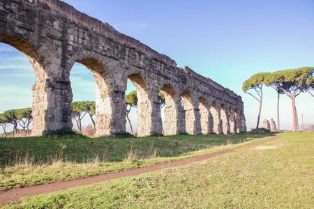 Aqueduct park on Appia street, Rome , Italy Standard-Bild - 93340096