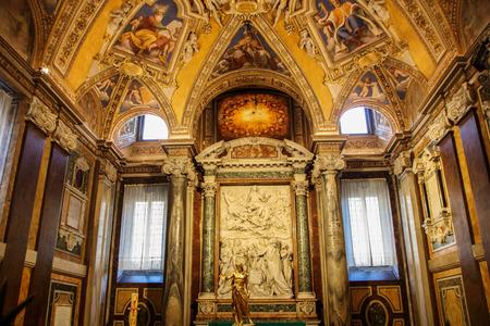baptismal font ina chapel of Santa Maria Maggiore a Papal major basilica and the largest Catholic Marian church in Rome,  Italy