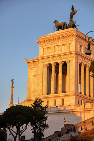 AT ROME - ITALY - ON 01062018 - The Altare della Patria in  English Altar of the Fatherland, also known as the Monumento Nazionale a Vittorio Emanuele II or  Vittoriano, is a monument built in honor of Victor Emmanuel, the first king of a unified Ital
