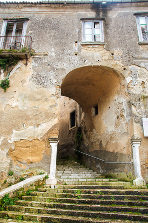 The medieval castle of the town of Tufo in Irpinia, a region of Campania in Avellino province, Italy