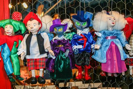 handmade puppets for Pinoccchio fairytale