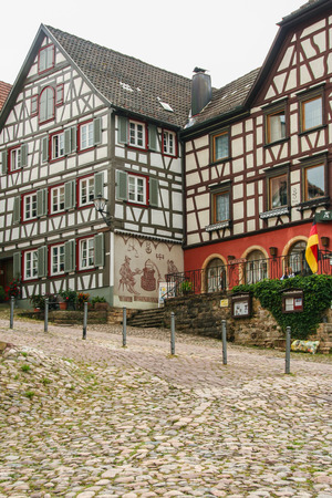 The town hall, the old rathaus symbol of Schiltach, the picturesque town n the black forest, Germany. Redactioneel