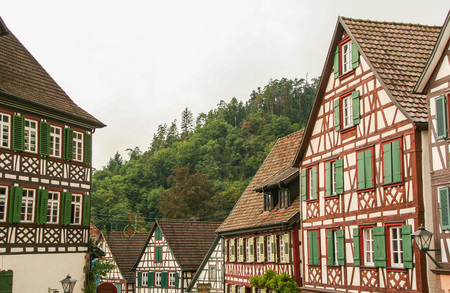 the picturesque town of Schiltach in the black forest, Baden WUttemberg, Germany