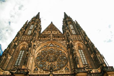 The Metropolitan Cathedral of Saints Vitus, Wenceslaus and Adalbert Stock Photo