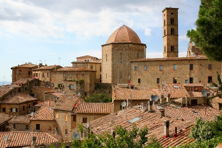 The town of Volterra in  Tuscany, Italy