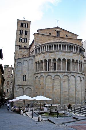 The church of Santa Maria della Pieve at Arezzo, Tuscany, Italy