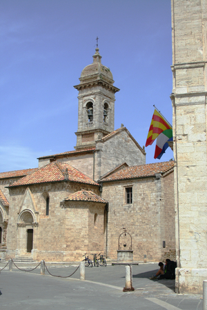 The Collegiata at San Quirico d'Orcia in Tuscany, Italy