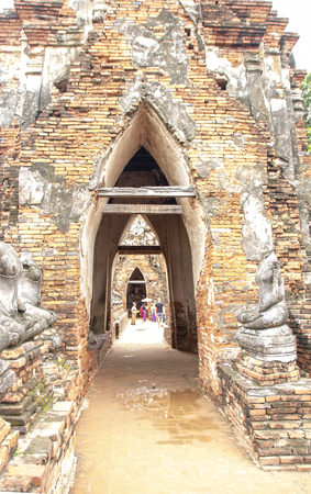 At Ayutthaya - Thailand -  On august 2018 - Buddhist temple called Wat Chaiwatthanaram or the Temple of long reign and glorious era in the city of Ayutthaya Historical Park, Thailand