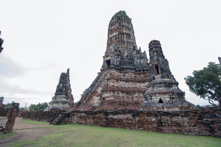 Buddhist temple called Wat Chaiwatthanaram or the Temple of long reign and glorious era