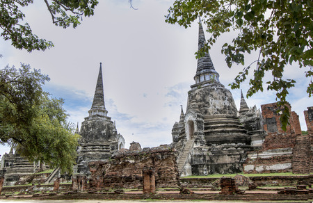 Buddhist temple called Wat Phra Si Sanphet or Temple of the Holy, Splendid Omniscient