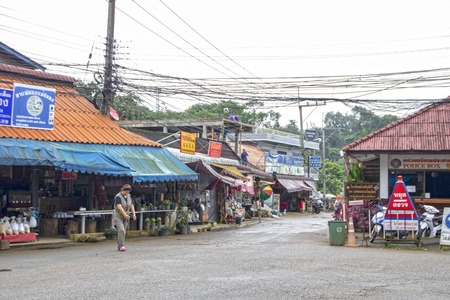 At Mae Salong - Thailand - On august 2018 - The chinese village of Mae Salong in Chiang Rai province of Northern Thailand Editorial