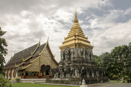 Wat Chiang Man, the elephant temple, a  Buddhist temple in Chiang Mai, Thailand Stok Fotoğraf