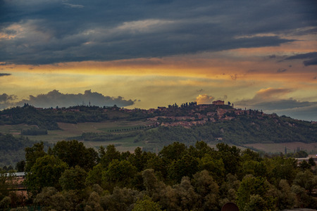 Landscape of langhe, Piedmont, Italy