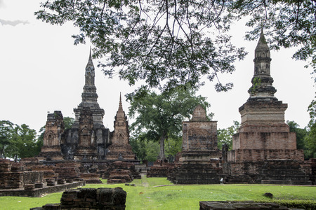 Wat Sa Si, Buddhist termple in historical park of Sukhothai, Thailand