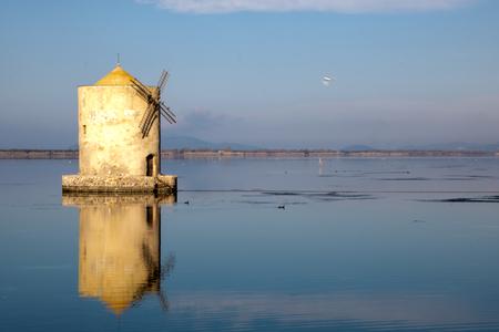 spanish mille in orbetello lagoon, maremma tuscany,Italy 版權商用圖片
