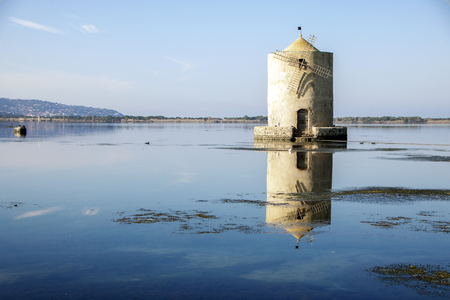 spanish mille in orbetello lagoon, maremma tuscany,Italy Stock Photo