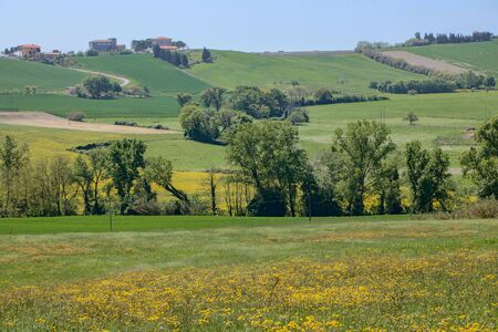 Beautiful countryside of Marche region in Italy