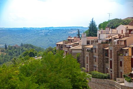The town of San Casciano in Val di Pesa, Tuscany, Italy