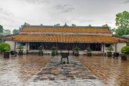 La tomba di Tu Duc, nella città di Hue, Vietnam Archivio Fotografico