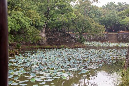 Luu Khiem Lake in The site of Tomb of Tu Duc, at Hue city, Vietnam