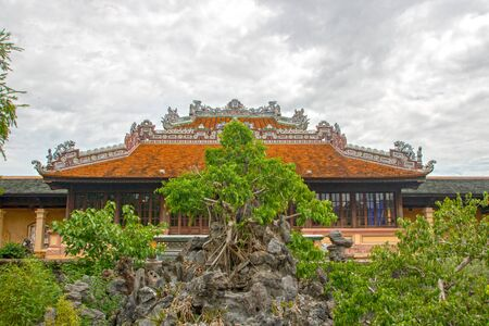 Pavillion of the Imperial City (Vietnamese: Hoàng thành), the  walled enclosure within the citadel (Kinh thành) of the city of Huế, the former imperial capital of Vietnam 写真素材