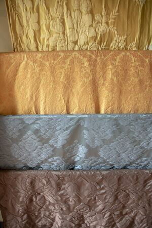San Leucio silk fabric samples, dating back to XVIII century and made in the real Bourbon  factory