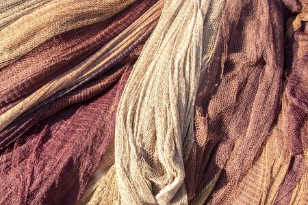 fishing net in the port of Pozzuoli, Naples, Italy