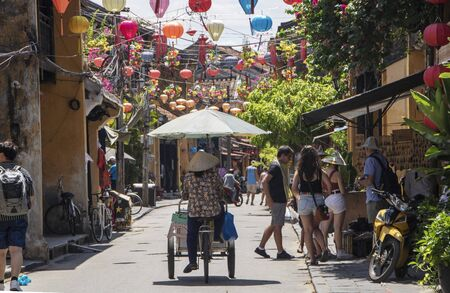 At Hoi An - Vietnam - On august 2019 - street of the old town