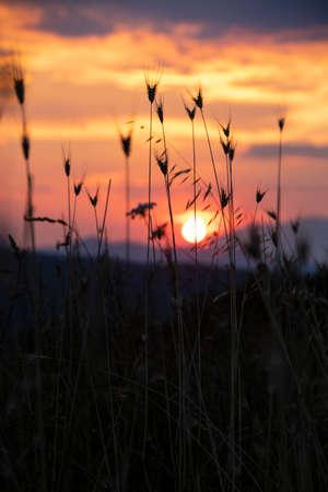 Sunset in Pollino national park, Basilicata region, Italy