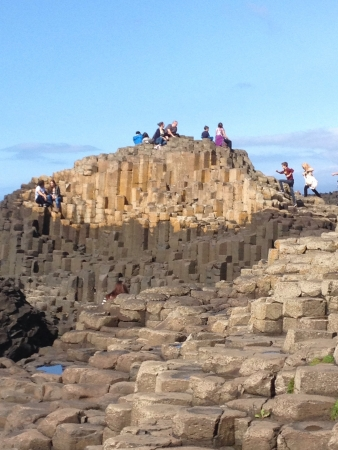 giants: Rock formations at giants causeway