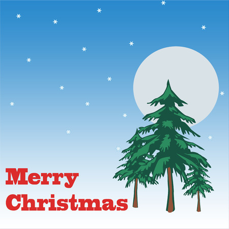ilustration: Backgrould whit text Merry Christmas , vector ilustration