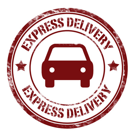 express delivery: Grunge rubber stamp with text Express Delivery,vector illustration Illustration