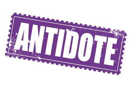 antidote grunge stamp on whit vector illustration Illustration