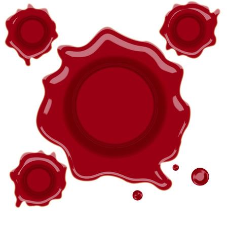 wax seal: wax stamp vector illustration