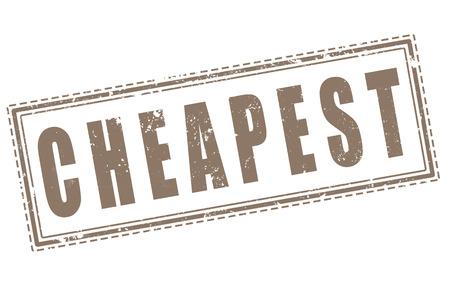 cheapest grunge stamp on whit vector illustration