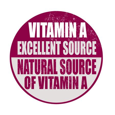 advertize: vitamina a grunge stamp whit on vector illustration Illustration