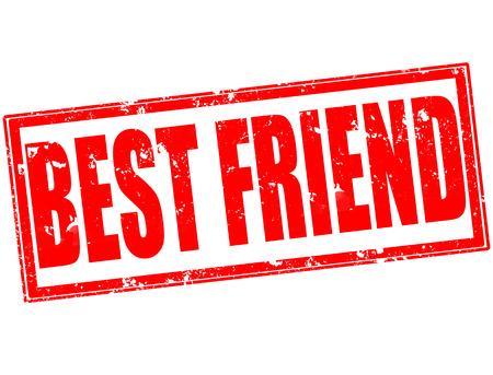 best friend grunge stamp on whit vector illustration Vector