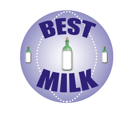 stamp whit text best milk vector illustration Vector