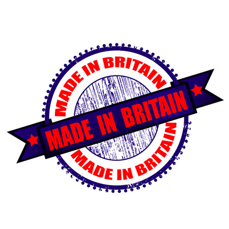 made in britain grunge stamp on whit vector illustration Vector