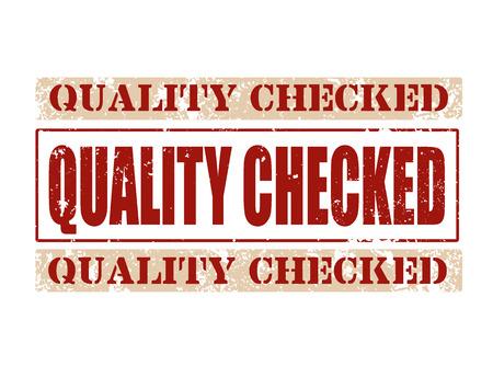 assured: calidad comprobada del sello del grunge en la ilustraci�n del vector whit