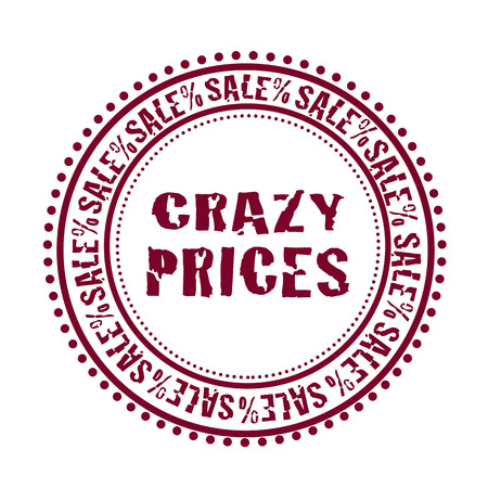 Grunge rubber stamp with text Crazy Prices,vector illustration