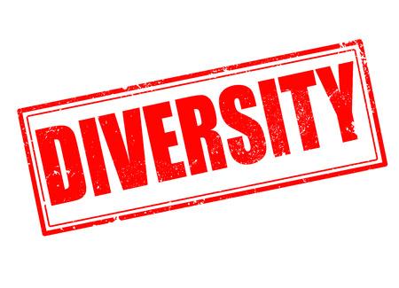 equal opportunity:  diversity grunge stamp on whit vector illustration Illustration