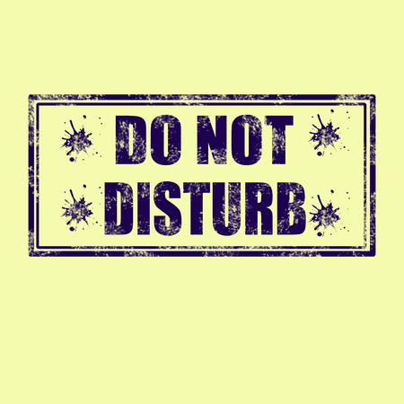 disturbing: label whit text do not disturb vector illustration
