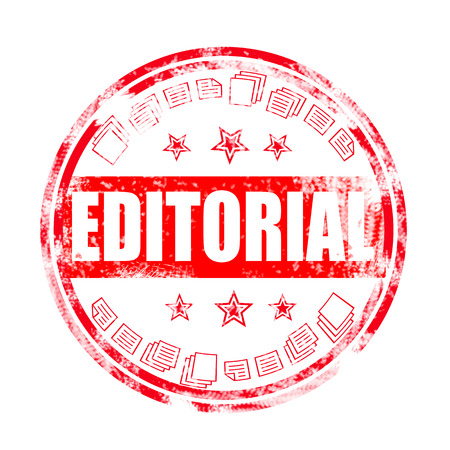 Editorial grunge stamp on white, vector illustration