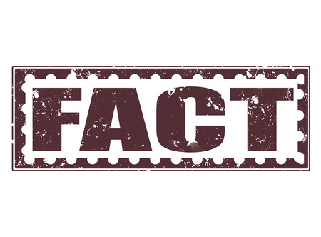 fact grunge stamp on whit vector illustration Vector
