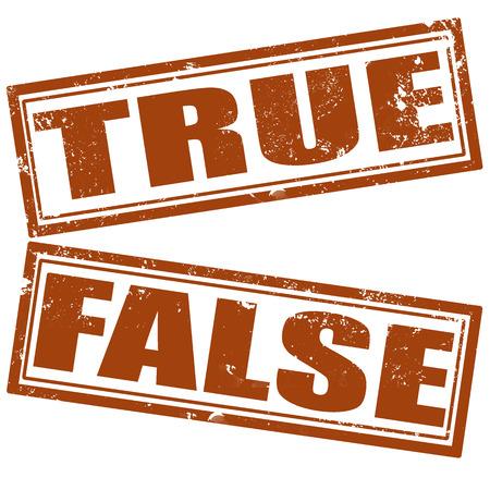 untrue: true grunge stamp on whit vector illustration Illustration