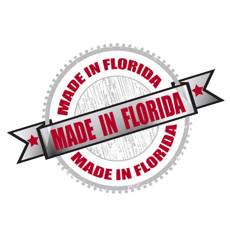 made in florida grunge stamp on whit vector illustration Vector