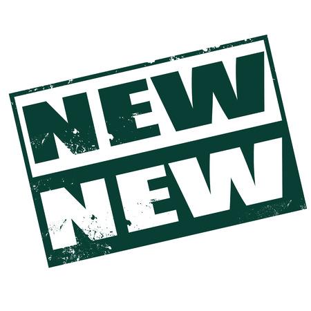 new new grunge stamp on whit vector illustration Illustration