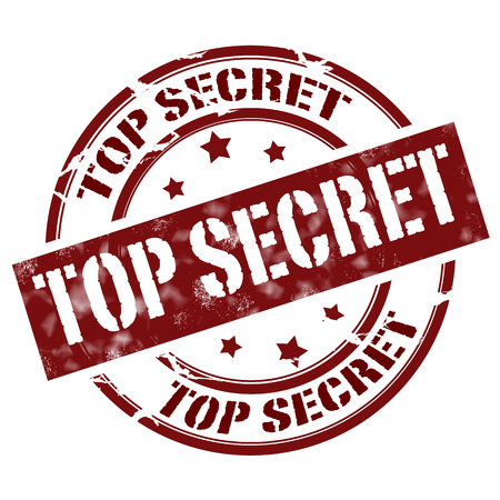 Label whit text Top Secret vector illustration
