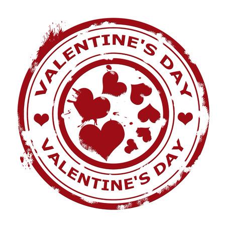 Label whit text Valentine Vector